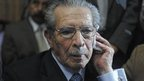 Former Guatemalan leader Efrain Rios Montt in court. 10 May 2013
