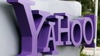 Yahoo sign outside its headquarters