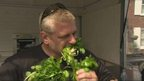 Glenn Walsh eating watercress