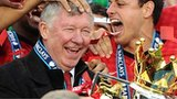 Sir Alex Ferguson with the league trophy