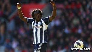 Romelu Lukaku of West Bromwich Albion