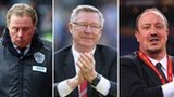 Harry Redknapp, Rafa Benitez, Sir Alex Ferguson