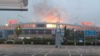 People mistakenly believed the Ricoh Arena was on fire