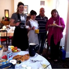 Guests and staff and Elmdon Lodge B&B in Acocks Green