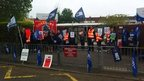 Protest outside John Gulson Primary School