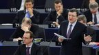 European Commission President Jose Manuel Barroso addresses the European Parliament in Strasbourg, 21 May