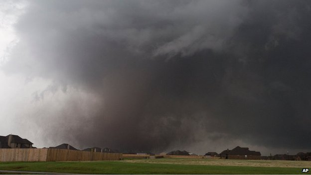 The tornado above Moore