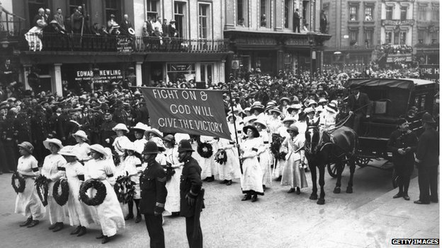 14 Jun 1913 - Funeral procession of Emily Davison
