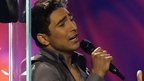 Farid Mammadov of Azerbaijan performs his song Hold Me during the final of the Eurovision Song Contest