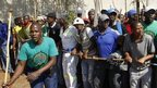 Striking Lonmin workers