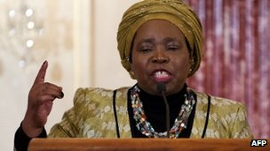 Chairperson of the African Union Commission Nkosazana Dlamini-Zuma