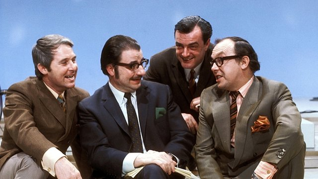 Eric Morecambe, Eddie Braben, John Ammonds, and Ernie Wise