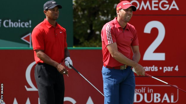 BBC Sport - Tiger Woods: Fried chicken jibe by Sergio Garcia 'hurtful'