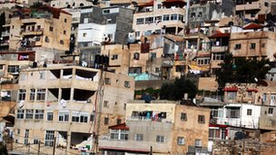 Palestinian neighbourhood of Silwan in East Jerusalem