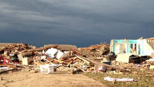 Tornado damage in Oklahoma, 21 May 2013