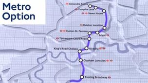 Two potential routes for Crossrail 2 have been put out for consultation