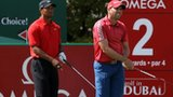 Tiger Woods (left) and Sergio Garcia