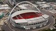 Aerial view of Wembley stadium
