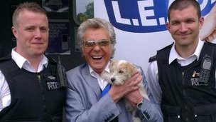 Lionel Blair and police office