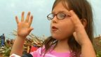 Girl from tornado-flattened school