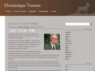 Screengrab of Dominique Venner's blog (21 May 2013)