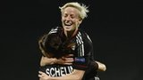 Megan Rapinoe and Lotta Schelin
