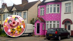 'Mr Blobby house' in Southend