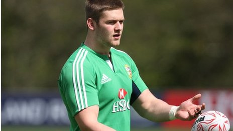 Dan Lydiate at a British and Irish Lions training session