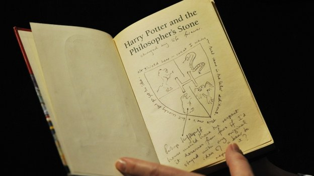Rare first edition of Harry Potter and the Philosopher's Stone