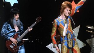 Trevor Bolder with David Bowie in 1972