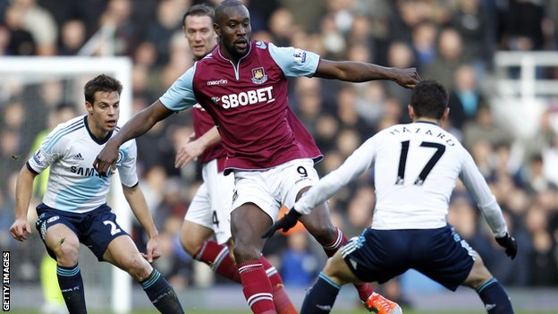 West Ham striker Carlton Cole