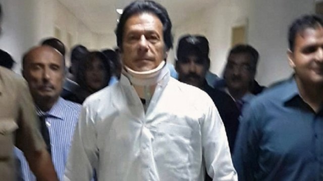 Imran Khan leaves hospital