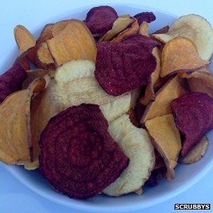Scrubbys root vegetable crisps