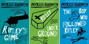 Book covers of Ripley's Game, Ripley Under Ground, The Boy Who Followed Ripley