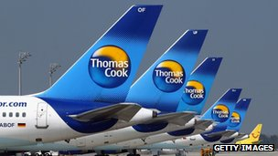 Thomas Cook planes in Hamburg