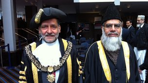 Councillors Fareed Hussain and Shiraz Kahn