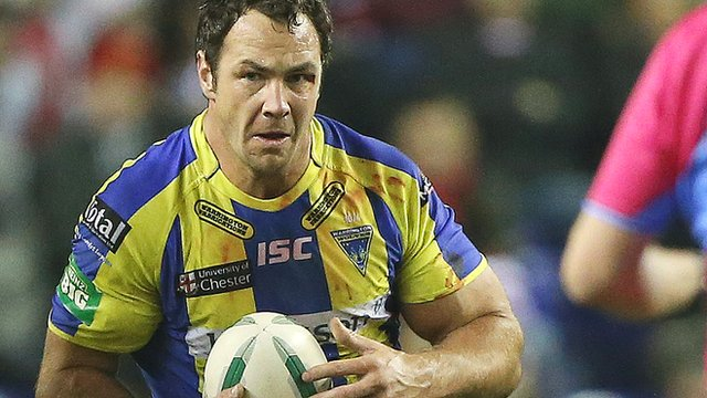 Warrington Wolves captain Adrian Morley