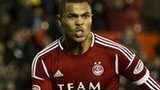Josh Magennis in action for Aberdeen