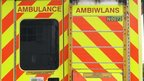 Rear of Welsh ambulance