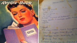 Bridget Blair's recipe book