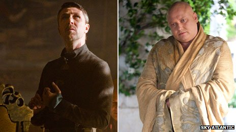 Aiden Gillen and Conleth Hill in Game of Thrones
