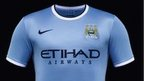 Manchester City's new Nike kit