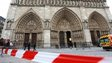 French policemen cordon off in front of Paris' Notre Dame Cathedral on 21 May