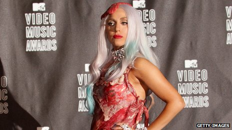 Lady Gaga in meat dress