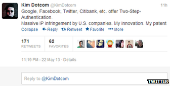 Kim Dotcom Twitter