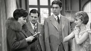 Richard Thorp (second from left) in a 1963 BBC recording of Noel Coward's Fallen Angels