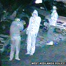 CCTV footage of men seen in area