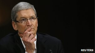 Tim Cook, Apple CEO before the US senate committee