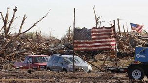 Tornado aftermath in Moore, Oklahoma, 22 May