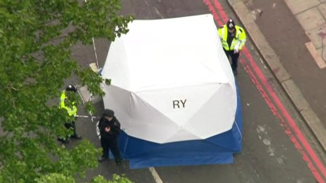 VIDEO: Man dead in suspected terror attack...